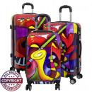 Großhandel Koffer & Trolleys: Polycarbonat Kofferset 3tlg Music