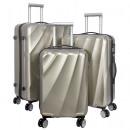 Großhandel Koffer & Trolleys:-Polycarbonat  Kofferset 3tlg Palermo champagner