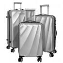-Polycarbonat  Kofferset 3tlg Palermo silber