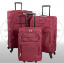 Nylon suitcase 3tlg Tenerife red