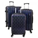 Polycarbonate luggage 3tlg Bologna purple