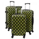 Großhandel Koffer & Trolleys: Polycarbonat  Kofferset 3tlg Bologna gelb