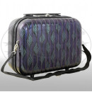 Polycarbonate beauty case Bologna purple