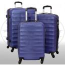Großhandel Koffer & Trolleys: ABS-Kofferset 3tlg Porto blau