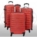 ingrosso Valigie &Trolleys: bagaglio ABS 3tlg Porto rosso