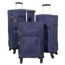 Nylon-Kofferset 3tlg Malaga blau