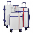 ABS-Kofferset 3tlg Bergen weiß