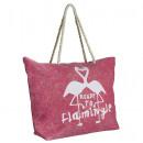 wholesale Garden & DIY store:Beach basket Flamingo