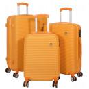 groothandel Koffers & trolleys: ABS koffer set 3 stuks Santorini oranje