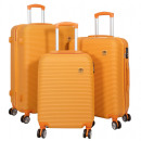 Großhandel Koffer & Trolleys: ABS-Kofferset 3tlg Santorin orange