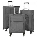 grossiste Bagages et articles de voyage: ensemble nylon  bagages 3tlg Sevilla anthracite