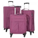 grossiste Bagages et articles de voyage: Nylon Luggage Set 3tlg rouge Sevilla