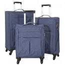 wholesale Suitcases & Trolleys: Nylon luggage set 3pc Seville blue