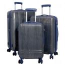 wholesale Suitcases & Trolleys: Polycarbonate case set 3pcs Samos blue