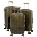Polycarbonate luggage set 3pcs Samos brown