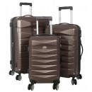 groothandel Koffers & trolleys: ABS bagage 3tlg Toledo bruin