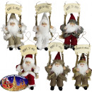 Santa Claus 18cm on swing - Christmas decoration