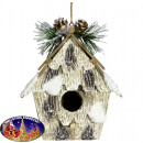 Árbol decoración birdhouse 13cm