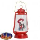 Schneiende LED Laterne 35cm Motiv Santa
