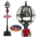 Großhandel Windlichter & Laternen: Schneiende LED  Laterne 175cm Motiv Baum