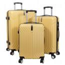 mayorista Maletas y articulos de viaje: Maleta ABS conjunto 3 piezas Palma naranja