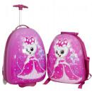 groothandel Rugzakken: Polycarbonaat  Kinderkofferset 2tlg Princess