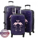 Polycarbonaat  Kofferset 3tlg Flamingo