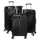 ingrosso Valigie &Trolleys: Palma valigia nera duro guscio bagaglio ABS 3tlg