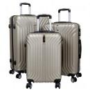 ABS-Kofferset 3tlg Palma champagner Hartschale