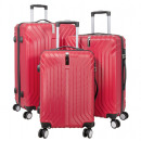 ABS-Kofferset 3tlg Palma rot Hartschale Koffer