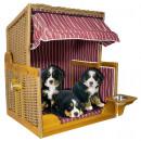 wholesale Garden Furniture: Dogs - Strandkorb burgund