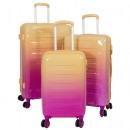 ingrosso Valigie &Trolleys: Set valigie in policarbonato 3 pezzi Lugano aranci