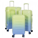 wholesale Suitcases & Trolleys: Polycarbonate luggage set 3 pieces Lugano green