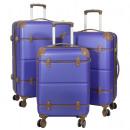 Großhandel Koffer & Trolleys: ABS Kofferset 3tlg Berlin II blau