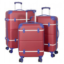ABS luggage set 3 pieces Berlin II red-blue