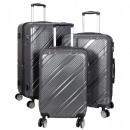 Polycarbonate luggage set 3 pcs Bilbao anthracite
