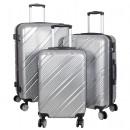 Polycarbonate luggage set 3 pcs. Bilbao silver