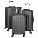 wholesale Suitcases & Trolleys: ABS luggage set 3 pieces Avalon anthracite trolley
