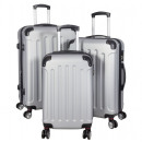 ABS-Kofferset 3tlg Avalon silber Trolley
