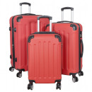 wholesale Suitcases & Trolleys: ABS trunkset 3pcs Avalon red trolley suitcase