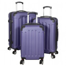 wholesale Suitcases & Trolleys: ABS trunkset 3pcs Avalon blue trolley suitcase