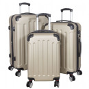 wholesale Suitcases & Trolleys: ABS trunkset 3pcs Avalon champagne suitcase