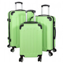 wholesale Suitcases & Trolleys: ABS luggage set 3pcs Avalon green suitcase trolley