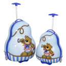 wholesale Suitcases & Trolleys: Polycarbonate kids suitcase 2pcs bear blue