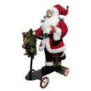 Santa on scooter 70cm