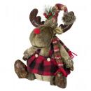 Decorative elk 35cm sitting Christmas decoration d