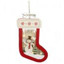 Großhandel Strümpfe & Socken: Hängedeko Strumpf mit LED Beleuchtung 23cm