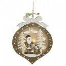 Hanging deco with LED lighting 28cm