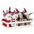 Tree decoration Santa / moose / snowman 12cm