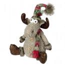 Deco moose 35cm sitting Christmas decoration deco